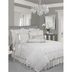 Gray, Silver & White Bedroom