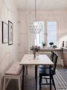 52 Beautiful Small Dining Room Ideas On A Budget. If you are living in a small and limited space, everything might seem so limited in size including your small dining room. There is no other way to expand its size unless giving proper dining room… Dining Room Design, Dining Room Furniture, Furniture Ideas, Room Chairs, Dining Decor, Furniture Design, Entryway Furniture, Design Table, Furniture Movers