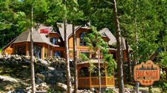 "A beautiful True North custom ""Citadel"" log home on Lake Rosseau, Muskoka."
