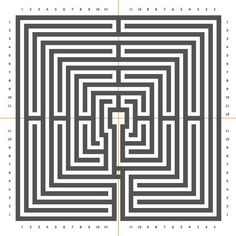The Chartres labyrinth in square form