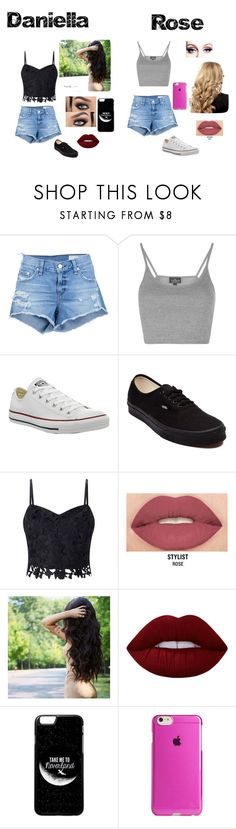 """""""Chapter 16"""" by gabby-belieber ❤ liked on Polyvore featuring rag & bone/JEAN, Topshop, Converse, Vans, Lipsy, Smashbox, Lime Crime and Agent 18"""
