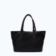 LEATHER SHOPPER BAG only $139 @ Zara
