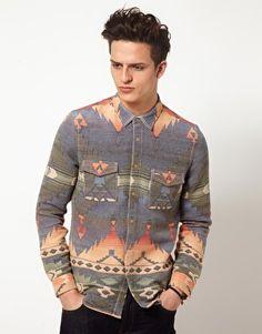 ASOS Jacquard Overshirt