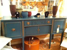 High Falootin' Junk ReDesign with ASCP Aubusson Blue