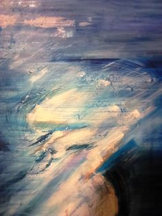 Airplane View, Oil On Canvas, Blue, Painting, Art, Art Background, Painting Art, Kunst, Paintings
