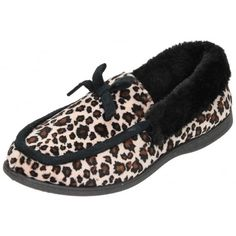 8f07252ab931 Dunlop Mocassin Slippers Faux Fur Collar House Shoes - Dunlop from Jenny-Wren  Footwear UK