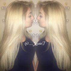 Blonde balayage beauty