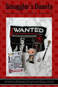 Smuggler's Bounty subscription box - a Star Wars subscription box.  Includes a Pop vinyl and t-shirt in every box!
