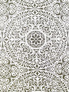 TACHENDA GREYSTONE #black-gray-silver #print-fabrics #suzani