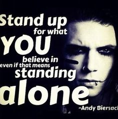 Andy Biersack quote, and they're bad people? haah ha ha... :|