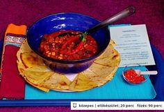 Tex-Mex pörkölt Tex Mex, Guacamole, Chili, Mexican, Ethnic Recipes, Food, Chile, Chilis, Eten