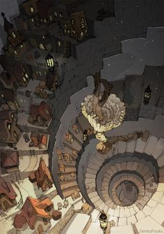 'I thought i heard something go bump in the night' by Demizu Posuka