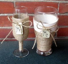 Wedding Toasting Flute and Beer Glass / Mr by CarolesWeddingWhimsy, $24.99, Country Wedding Champagne Flute for her and a Beer Pilsner for him....outstanding!  Check out this set at  https://www.etsy.com/listing/191853399/wedding-toasting-flute-and-beer-glass-mr