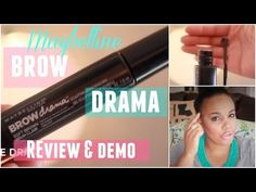 MAYBELLINE BROW DRAMA| REVIEW & DEMO - YouTube