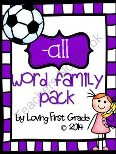 -all Word Family Pack from Loving First Grade on TeachersNotebook.com -  (21 pages)  - This pack contains 2 student books, 5 printables, and 3 centers/activities to help you with your word family lessons.