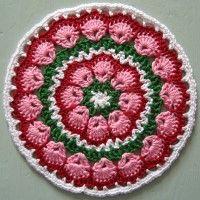 Crochet Mandala Wheel made by Willy, Netherlands, for yarndale.co.uk