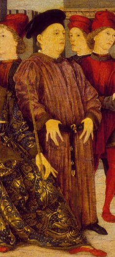 MARCO ZOPPO, Fragment from a Cassone Panel 'Shooting at Father's Corpse', 1462 c.; Los Angeles County Museum of Art, _inv. M.81.259.1 [Wikipedia Commons]. Detail clipped by Andrea Carloni - Rimini.