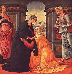 La Visitation de la Vierge Marie  par Domenico Ghirlandaio