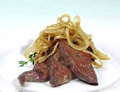 Venetian Style Calf's Liver & Onions.  Folic-acid could be important in reducing the risks of cancers!