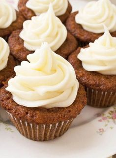 If you love carrot cake, then you are going to jump for joy when you get your hands on these carrot cake inspired cupcakes complete with a fluffy swirl of Cream Cheese Frosting for a perfect pairing. Perfect cupcakes for the beginning of fall and fall events.