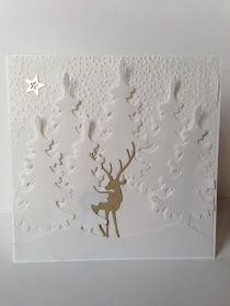 Stampin Up Christmas, Christmas Cards To Make, Christmas Deer, Outdoor Christmas, Xmas Cards, Holiday Cards, Christmas Time, Diy Cutting Board, Card Making Techniques