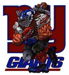 New York Giants Fear us New York Giants Logo, New York Giants Football, My Giants, Football Art, Ny Yankees, Beast Of The East, Nfl Flag, Go Big Blue, Football Pictures