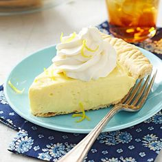 Lemon-Cream Cheese Pie - This longtime reader-favorite recipe makes two pies; if you like, freeze one. To thaw, let the frozen pie stand in the fridge overnight.