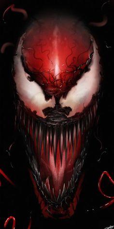 'Carnage' print by Andy Fairhurst for Grey Matter Art at NYCC 2018 Venom Comics, Marvel Venom, Marvel Villains, Marvel Comics Art, Marvel Characters, Marvel Heroes, Amazing Spiderman, Illustration Batman, Spiderman Kunst
