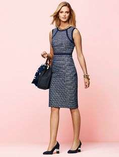Talbots - Plaid Tweed Dress | New Arrivals | Misses, $149