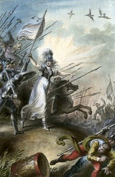 Ramberg original watercolor signed and annotated 1795 Jeanne d'Arc on the battlefield Original painting for sale @ imtherefore fine art & manuscripts Original Paintings For Sale, 18th Century, Watercolor, Fine Art, Image, Pen And Wash, Watercolor Painting, Watercolour, Visual Arts