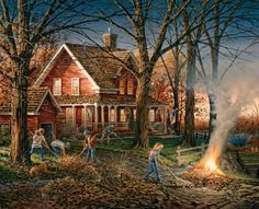 when we burned the fallen leaves (AUTUMN EVENING, BY TERRY REDLIN)