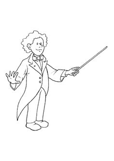 Coloriage metiers chef orchestre
