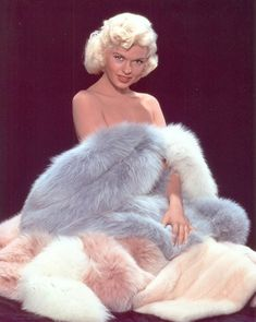 Jayne Mansfield with Furs (Fox and Mink)