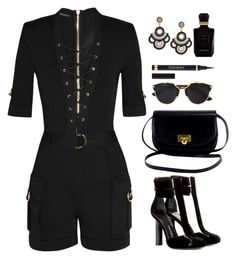 """""""Untitled #331"""" by jovana-p-com ❤ liked on Polyvore featuring Balmain, Tom Ford, Christian Dior, Yves Saint Laurent and Keiko Mecheri"""