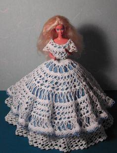 Crochet Fashion Doll Barbie Pattern- #114 CHANTILLY LACE #1