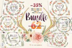 Graphic Design - Graphic Design Ideas  - Floral BUNDLE. Wild complete Vol.5 by GrafikBoutique on Creative Market   Graphic Design Ideas :     – Picture :     – Description  Floral BUNDLE. Wild complete Vol.5 by GrafikBoutique on Creative Market  -Read More –