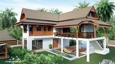 Beautiful house design with plan details for usable area 232 square meters