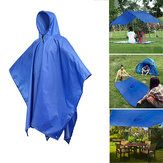 KCASA KC-RC042 3 in 1 Travel Waterproof Poncho Outdoor Raincoat Shelter Camping Mat Backpack Cover