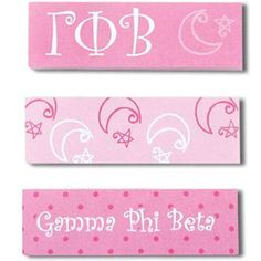 Gamma Phi Beta Sorority Sticky Tabs $2.95