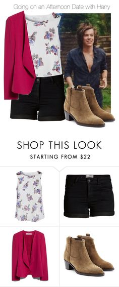 """""""Going on an Afternoon Date with Harry"""" by yana369 ❤ liked on Polyvore featuring Glamorous, Pieces, MANGO and Burberry"""