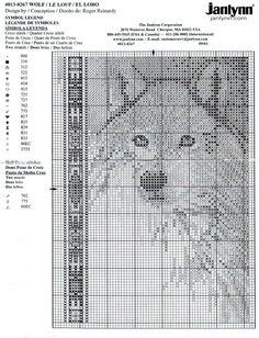Schema punto croce Lupo 02