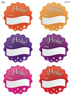 DISTINTIVOS PARA EL PRIMER DIA DE CLASES O CUALQUIER OCASIÓN   Maestra Adanolis Spanish Teacher, Spanish Classroom, Teaching Spanish, 1st Day Of School, Beginning Of School, Back To School, Preschool Spanish Lessons, Teacher Planner, First Grade