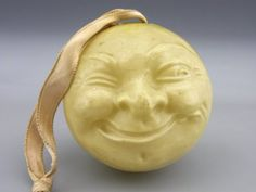 VINTAGE BABY RATTLE CELLULOID MAN-IN-MOON