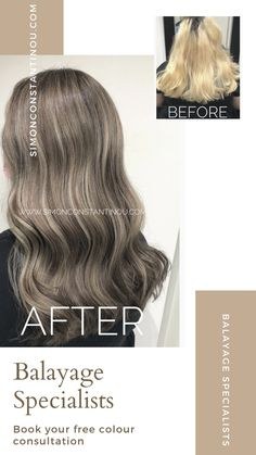 Want to treat yourself to a trendy low-maintenance Balayage? Put your trust in one of our professional Balayage Specialists ✨ Book your complementary colour consultation and skin test with one of our Balayage experts... ☎️ call 02920461191 Or 📱 head to our website to book online #simonconstantinou #haircolouring #goldwell #balayage #balayagecardiff #AshBalayage #coolbalayage #colourcorrection Ash Balayage, Grey Hair Don't Care, Latest Hair Color, Colour Trends, Hair And Beauty Salon, Hair Transformation, Hair Colour, Color Correction, Color Inspiration