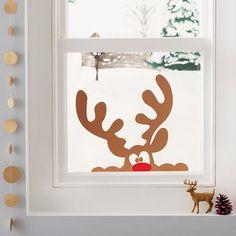 awesome christmas window decor ideas 20 ~ my.me awesome christmas window decor id. Office Christmas, Simple Christmas, Christmas Holidays, Christmas Window Decorations, 242, Christmas Crafts, Christmas Ornaments, Christmas Ideas, Wall Stickers