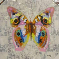 MUURDECORATIE: Vrolijke Vlinder