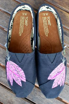 Hand Painted Musical Dream Catcher TOMS shoes by BStreetShoes, $139.00