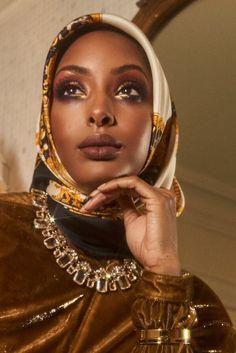 Black Women Art, Beautiful Black Women, Black Girls, Turban, Black Royalty, Black Girl Aesthetic, Beautiful Hijab, Muslim Women, Brown Skin