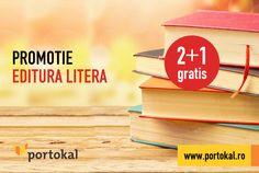 Completează-ți biblioteca! La două cărți de la editura Litera cumpărate, primești una GRATIS! Caută cărțile potrivite pentru tine aici: http://goo.gl/QNnph4. #Portokal #Litera #Promotie