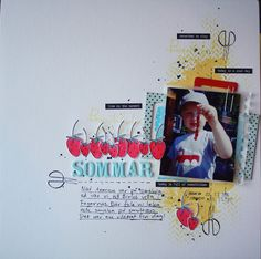 Summer themed scrapbook layout with Altenew stamps